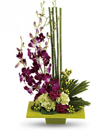 Teleflora's Zen Artistry Bouquet Vase Arrangement