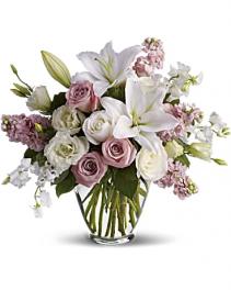Teleflor's Isn't it Romantic Fresh Vased Arrangement