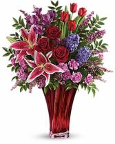 Teleflor's one of a Kind Bouquet Mixed vased Arrangement