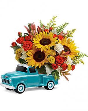 Telelfora's Chevy Pickup Bouquet  in Dearborn, MI | LAMA'S FLORIST
