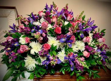 Tender Remembrance Purple Roses and Fillers