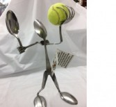 Tennis Player Forked Up Art