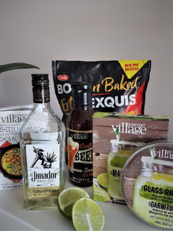 CLASSIC MARGARITA BASKET With Tequila, mixes and snacks