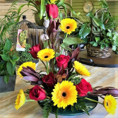 Tequila Sunrise Tropical Arrangement
