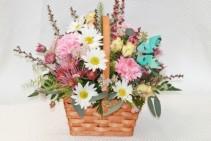 Spring Pastel Basket Fitzgerald Flowers Design