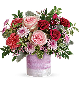 TEV58-1A   Washed In Pink Bouquet
