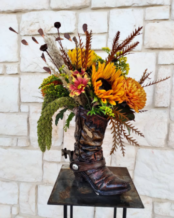 Texas Floral Special Boot Vase