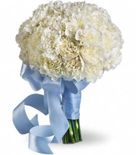 Textured Dianthus bridesmaid bouquet
