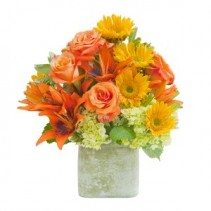Textured Sunset Vase - As Shown (Deluxe) Vase