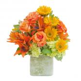 Textured Sunset Vase