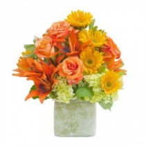 Textured Sunset Vase Arrangement