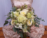 Textures of White Wedding Bouquet