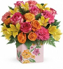 TF Painted Blossoms Bouquet