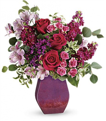 TF Regal Blossoms with Roses Ceramic Vase