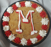 Giant chocolate cookie with