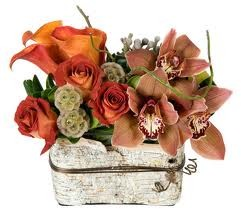 Th 7-Mixed flowers in a compact vase arrangement Flowers and colors may vary in Philadelphia, PA | CARL ALAN FLORAL DESIGNS LTD.