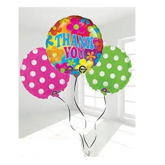 THANK YOU BALLOON BOUQUET ASSORTED FOILS AND LATEX