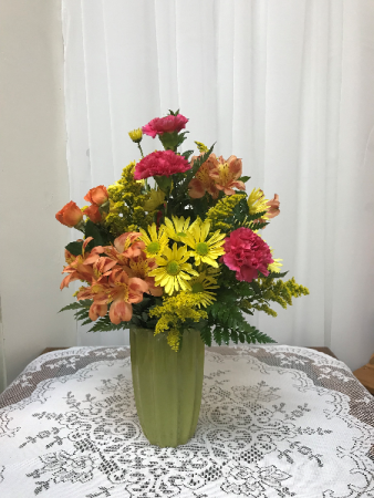 Thank You Mom Bouquet All around arrangement - colors may vary.