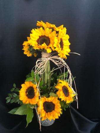 Thank You For Being My Friend Sunflower Arrangement