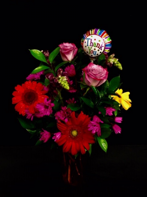 Thank You! Mixed Floral Arrangement in Plainview, TX | Kan Del's Floral, Candles & Gifts