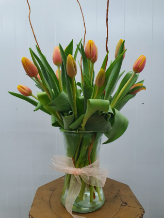 Thank You! Tulips Vase arrangement
