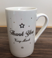 Thank you very much mug Fine bone China mug