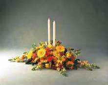 Thankful   2 candle centerpiece