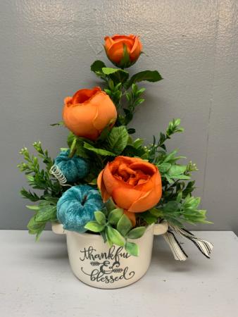 Thankful and Blessed (artificial) Silk flower arrangement  Artificial