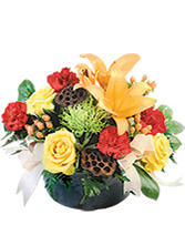 Thankful and Bright Floral Arrangement in Pine Island, New York | FLOWERS BY LISA