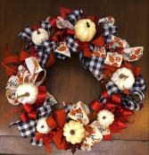 Thankful Fall Pumpkins Silk Door Decor