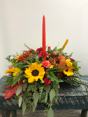 Thankful Glow Thanksgiving Centerpiece in Northfield, MN | JUDY'S FLORAL DESIGN STUDIO