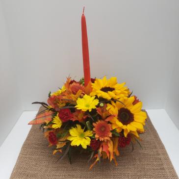 Thankful Heart centerpiece arrangement