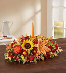 Thankful Thoughts centerpiece in Lexington, NC | RAE'S NORTH POINT FLORIST INC.