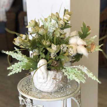 Thankful Turkey  Silk Floral Arrangement