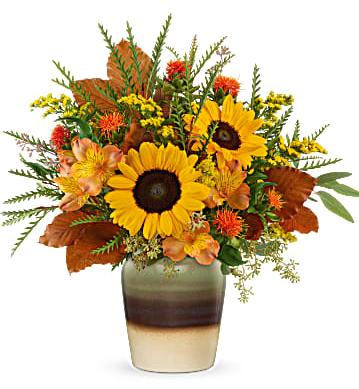 Teleflora's Thankfully Yours Stoneware Vase