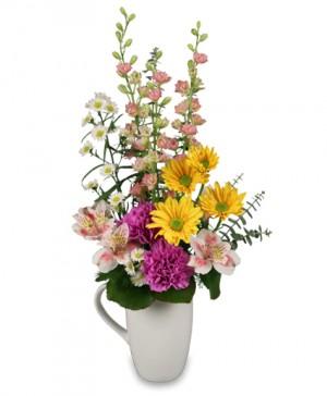 thanks a bunch flowers in mug in Lebanon, NH | LEBANON GARDEN OF EDEN FLORAL SHOP