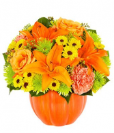 Thanks-for-Giving a Pumpkin Arrangement