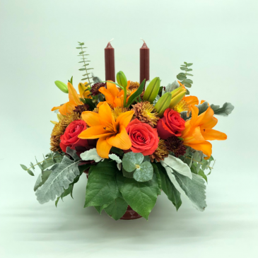 THANKSGIVING CANDLE DIVINE ARRANGEMENT Flower Arrangement