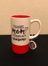 Thanks Mom... Mug with Silicone Base