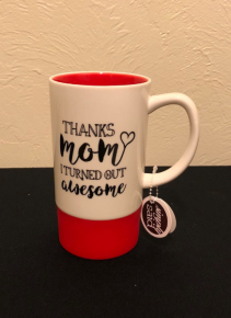 Thanks Mom... Mug with Silicone Base