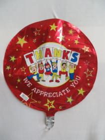 Thanks We Appreciate You Mylar Mylar Balloon