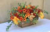Thanksgiving Blessings Boxed Design of Autumn Blooms