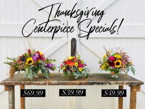 Thanksgiving Centerpiece in Dixon, IL   WEEDS FLORALS, DESIGN & DECOR
