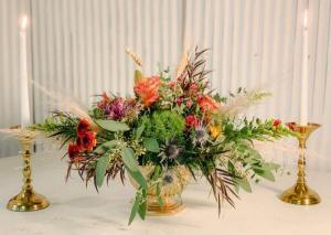 Thanksgiving Centerpiece #3 Fresh Centerpiece Thanksgiving in Dixon, IL | WEEDS FLORALS, DESIGN & DECOR
