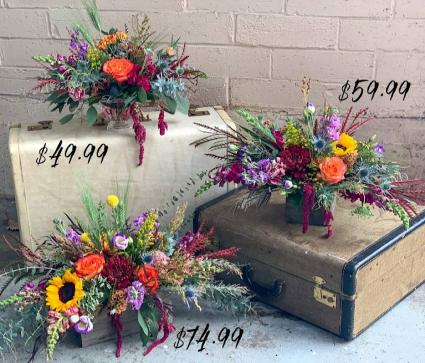 Thanksgiving Centerpiece  Fresh Flower Centerpiece