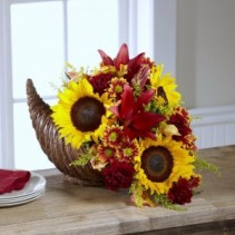 Thanksgiving Cornucopia Luxury Centerpiece