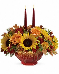 Thanksgiving Garden Teleflora - OVEN TO TABLE BOWL! in Springfield, IL | FLOWERS BY MARY LOU INC