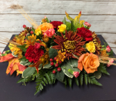 Thanksgiving Long and Low Centerpiece Arrangement