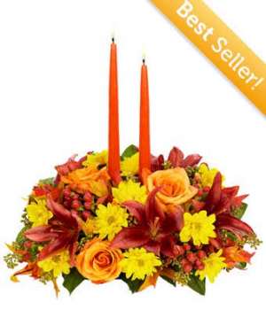 Thanksgiving Moments Centerpiece  in Cleveland, TX | EASY STREET FLORIST