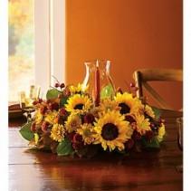 Thanksgiving Sunflower Centerpiece $75.95, $85.95, $105.95